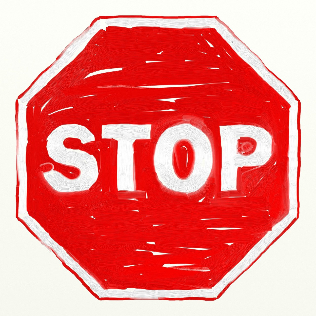 red, stop, sign