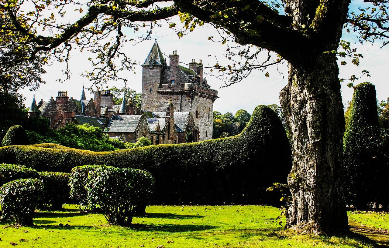 scottish, castle, guthrie castle
